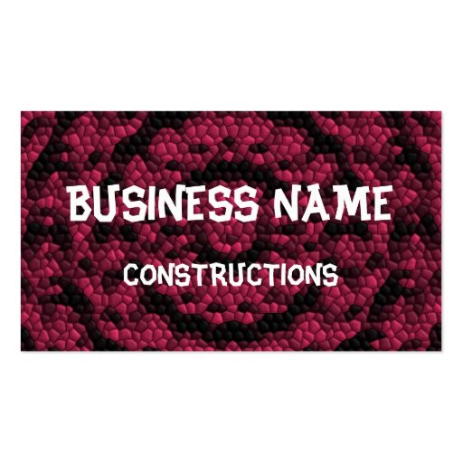 Abstract mosaic business card