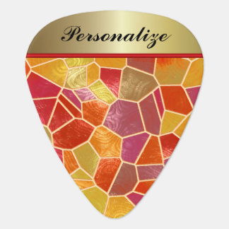 Abstract Mosaic Colorful Design | Personalize Plectrum