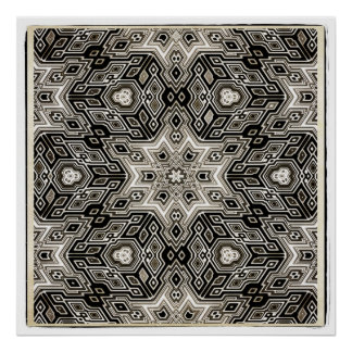 Abstract Mosaic Design Poster