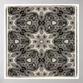 Abstract Mosaic Design Print