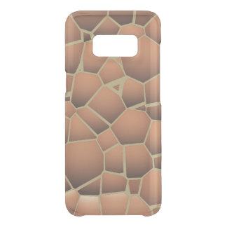 Abstract mosaic floor tiles terracotta orange uncommon samsung galaxy s8 case