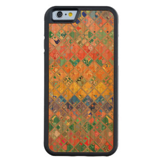 Abstract Mosaic Pattern #2 Carved® Cherry iPhone 6 Bumper Case
