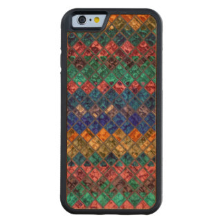 Abstract Mosaic Pattern #3 Carved® Cherry iPhone 6 Bumper Case