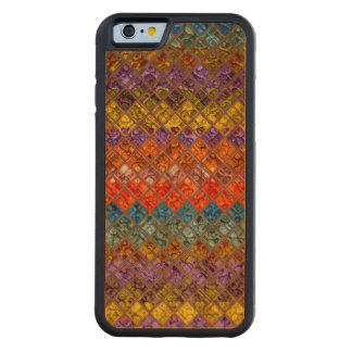 Abstract Mosaic Pattern #4 Carved® Cherry iPhone 6 Bumper Case