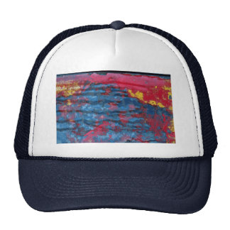 Abstract Mostly red Mesh Hats