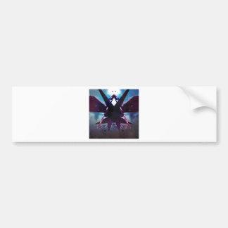 Abstract moth bumper sticker