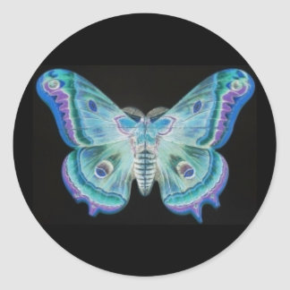 Abstract Moth Sticker