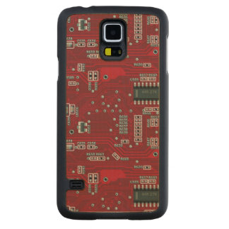 Abstract motherboard carved maple galaxy s5 case