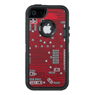 Abstract motherboard OtterBox defender iPhone case