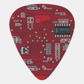 Abstract motherboard plectrum