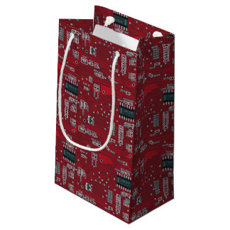Abstract motherboard small gift bag