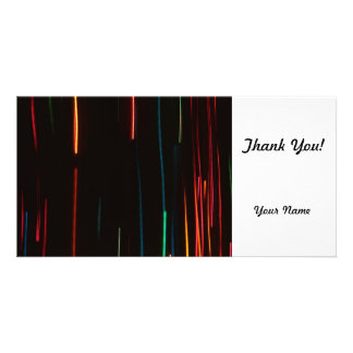 Abstract Motion Lights Personalized Photo Card