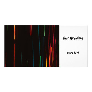 Abstract Motion Lights Photo Greeting Card