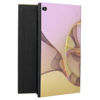 Abstract Motions, Modern Light Pink Yellow Fractal Powis iPad Air 2 Case