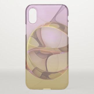 Abstract Motions Modern Pink Golden Fractal Art iPhone X Case