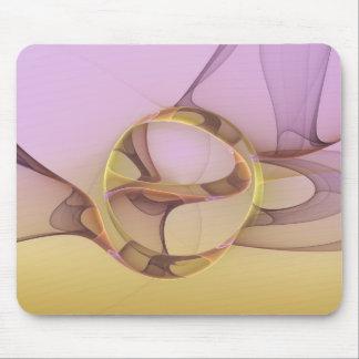 Abstract Motions Modern Pink Golden Fractal Art Mouse Mat