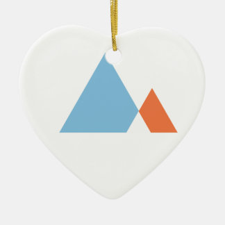 Abstract Mountains Christmas Ornament