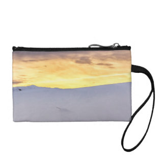 Abstract Mountains with Snow at Sunset Coin Purse
