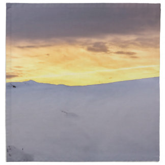 Abstract Mountains with Snow at Sunset Napkin