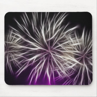 Abstract Mouse Mat, White Firework Mouse Mat