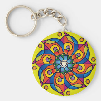Abstract movement keychain