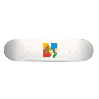 abstract movement skate board deck
