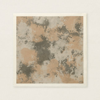 Abstract Mud Puddle Paper Napkins
