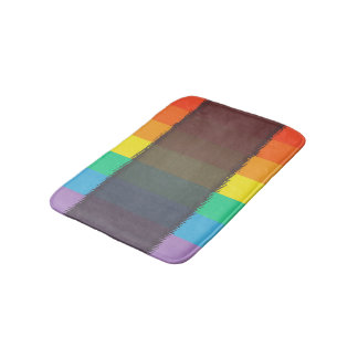Abstract Multi Color Background Bath Mat
