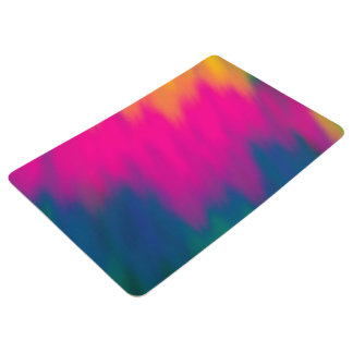 Abstract Multi Color Background Floor Mat