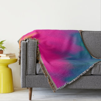 Abstract Multi Color Background Throw Blanket