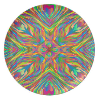 Abstract Multi Color Pattern Plate