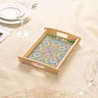Abstract Multi Color  Pattern Serving Tray