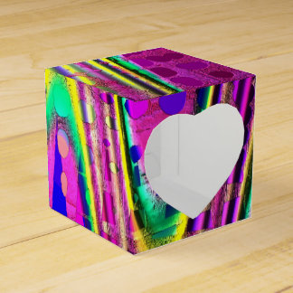 Abstract Multi-Colored Gift Box
