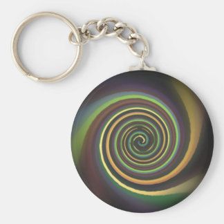 Abstract Multi-colored Swirl Key Chain