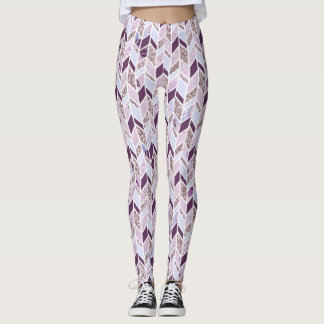 Abstract Multi Colors with Bling Leggings