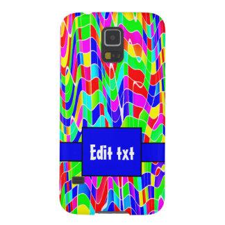 Abstract multi colour galaxy s5 case