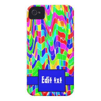 Abstract multi colour iPhone 4 case