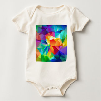 Abstract Multi Coloured Art Baby Bodysuit