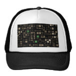 Abstract Multi Coloured Square Hat
