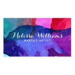 Abstract Multi-Coloured Watercolors Makeup Artist Pack Of Standard Business Cards