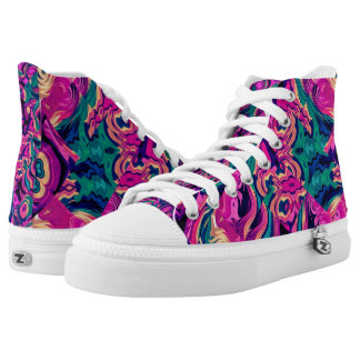 Abstract Multi Purple Art Vitas Sneakers Top Shoes