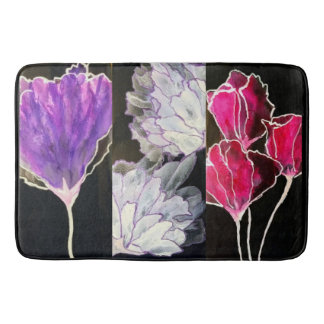 abstract multicolor floral bath mat
