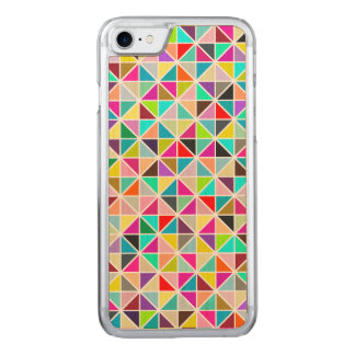 Abstract Multicolor Kaleidoscope Diamond Pattern Carved iPhone 8/7 Case