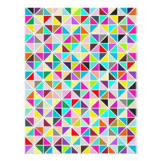 Abstract Multicolor Kaleidoscope Diamond Pattern Custom Flyer