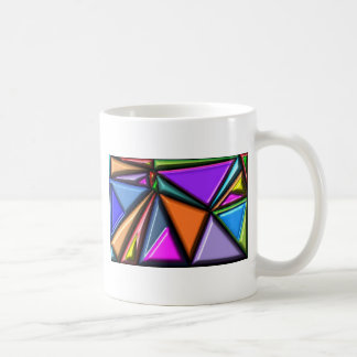 Abstract multicolor coffee mugs