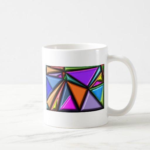 Abstract multicolor coffee mugs