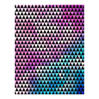 Abstract multicolor nebula triangles pattern 21.5 cm x 28 cm flyer