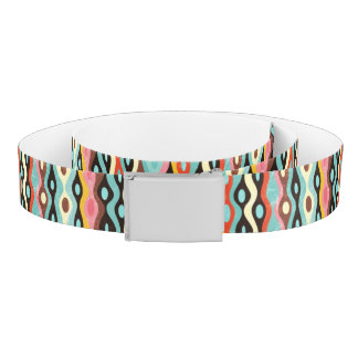 Abstract multicolor pattern belt