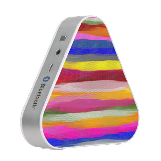 Abstract Multicolor Watercolor Stripes Speaker