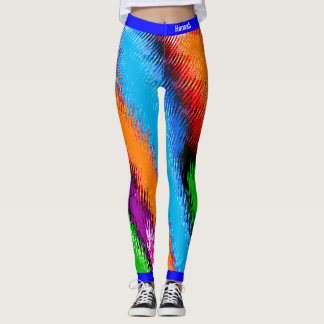 Abstract Multicolored Leggings